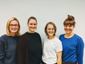 Our executive board (fLTR.: Leonie Kühn, Paula Kurz, Alicia Baier, Caro Gabrysch)